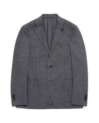 Lardini - Gray Wool Birdseye Soft Blazer for Men - Lyst