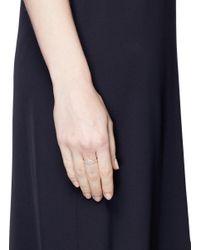 Anabela Chan | Metallic 'twilight' Diamond Pavé 9k Rose Gold Ring | Lyst