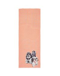 Pashma - Multicolor 'fluffy Dog' Print Houndstooth Scarf - Lyst