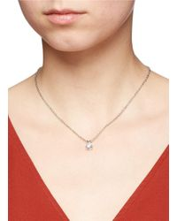 CZ by Kenneth Jay Lane | Metallic Cubic Zirconia Pendant Necklace | Lyst