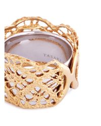 Tasaki - Metallic 18k Yellow Gold Abstract Cutout Ring - Lyst