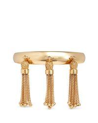Chloé | Metallic 'lynn' Chain Tassel Brass Cuff | Lyst