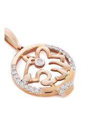 LC COLLECTION - Metallic Diamond 18k Rose Gold Chinese Zodiac Pendant - Tiger - Lyst