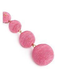 Kenneth Jay Lane - Pink 'carnival' Threaded Sphere Drop Clip Earrings - Lyst