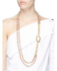 Rosantica - Multicolor 'intreccio' Beaded Knot Chain Necklace - Lyst
