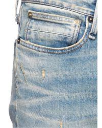 Denham - Blue 'razor' Slim Fit Ripped Jeans for Men - Lyst