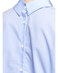 Rag & Bone - Blue 'calder' Two-way Button Down Cotton Shirt - Lyst