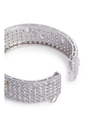 CZ by Kenneth Jay Lane - Metallic Round And Oval Cut Cubic Zirconia Bangle - Lyst