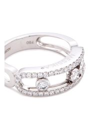 Messika - Metallic 'move Pavé' Diamond 18k White Gold Ring - Lyst