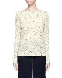 Proenza Schouler | Black Paint Splatter Print Long Sleeve T-shirt | Lyst