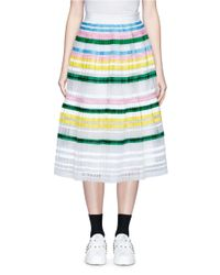 MUVEIL | Multicolor Ribbon Stripe Chiffon Pleat Skirt | Lyst