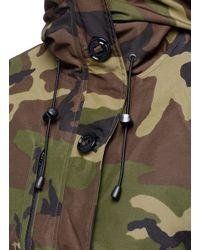 Canada Goose | Green 'rideau' Camouflage Print Down Parka | Lyst