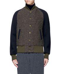 Kolor   Gray Wool Bouclé Varsity Jacket for Men   Lyst