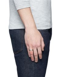 Le Gramme - Metallic 'le 7 Grammes' Brushed Sterling Silver Ring - Lyst
