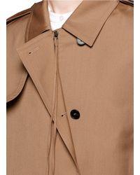 Ports 1961 - Multicolor Layered Wool-silk Gabardine Trench Coat - Lyst