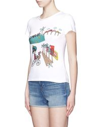 Alice + Olivia - Metallic Stacey In Hollywood' Illustration T-shirt - Lyst
