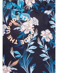 The Upside - Blue 'enter The Dragon' Print Running Shorts - Lyst