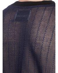 Ffixxed Studios - Blue Open Stripe Knit Short Sleeve Sweater for Men - Lyst