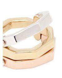 W. Britt - Metallic 'flip' Convertible Gold Plated Ring - Lyst