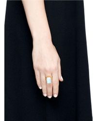 Ringly - White 'daydream' Rainbow Moonstone Activity Tracking Ring - Lyst