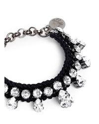 Venessa Arizaga | Black 'akiko' Swarovski Crystal Bracelet | Lyst