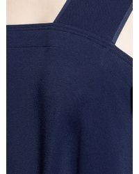 Helmut Lang - Blue Side Tie Crepe Midi Dress - Lyst