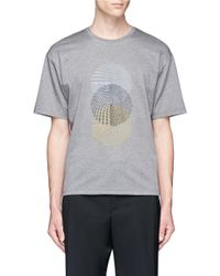 Wooyoungmi | Gray Spiral Embroidered T-shirt for Men | Lyst
