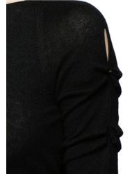 The Row - Black 'jian' Bow Sleeve Cashmere Sweater - Lyst