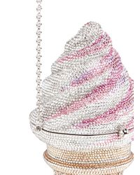 Judith Leiber Couture   Multicolor Crystal Strawberry Twist Ice Cream Cone Clutch Bag   Lyst