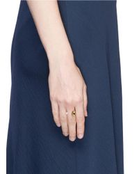 Delfina Delettrez - Metallic 'eyes On Me' Diamond 18k Yellow Gold Open Ring - Lyst
