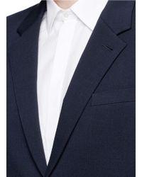 McQ - Blue 'curtis' Notch Lapel Cotton Blazer for Men - Lyst