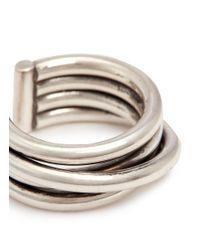Philippe Audibert - Metallic 'new Africa' Slanted Coil Open Ring - Lyst
