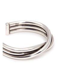 Philippe Audibert - Metallic 'alicia' Twisted Coil Open Ring - Lyst