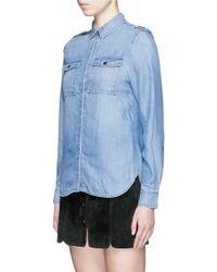 FRAME - Blue 'le Military' Denim Shirt - Lyst