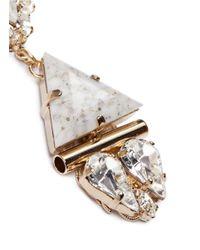 Anton Heunis - White Swarovski Crystal Vintage Stone Pendant Earrings - Lyst