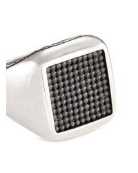 John Hardy - Metallic Rhodium Silver Dotted Jawan Signet Ring for Men - Lyst