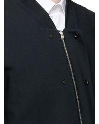 Tim Coppens - Black Bonded Virgin Wool Bomber Jacket for Men - Lyst