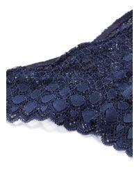 Kiki de Montparnasse - Blue 'miel' Stretch Lace Panty - Lyst