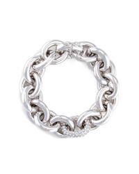 Eddie Borgo | Metallic Crystal Pavé Link Chain Bracelet | Lyst
