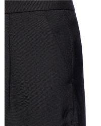 Vince - Black Scalloped Hem Tailored Shorts - Lyst