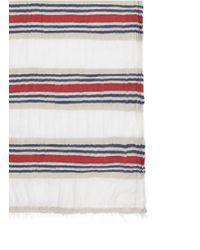 Faliero Sarti - Multicolor 'paul' Tricolour Stripe Cotton-modal Scarf - Lyst
