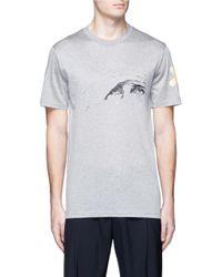 Lanvin | Gray 'gaze' Print Cotton T-shirt for Men | Lyst