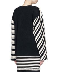 Ports 1961 - White Variegated Stripe Silk Blend Knit Sash Tie Jacket - Lyst