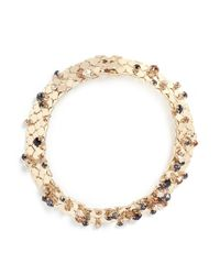 Lanvin | Metallic 'chain Lumiere' Glass Crystal Honeycomb Chain Necklace | Lyst