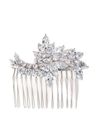 CZ by Kenneth Jay Lane - Multicolor Floral Cubic Zirconia Hair Comb - Lyst