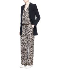 Equipment | Multicolor 'avery' Leopard Print Silk Pyjama Pants | Lyst