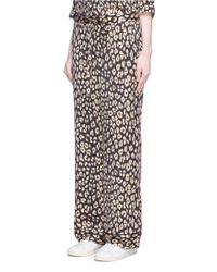 Equipment - Multicolor 'avery' Leopard Print Silk Pyjama Pants - Lyst