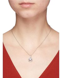 CZ by Kenneth Jay Lane - Metallic Cubic Zirconia Pavé Pendant Necklace - Lyst