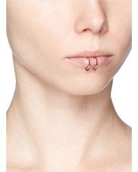 Kim Mee Hye - Multicolor 'double Rocker' Black Diamond 18k Rose Gold Lip Ring - Lyst