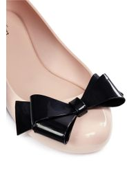 Melissa - Pink 'space Love Iv' Bow Pvc Flats - Lyst